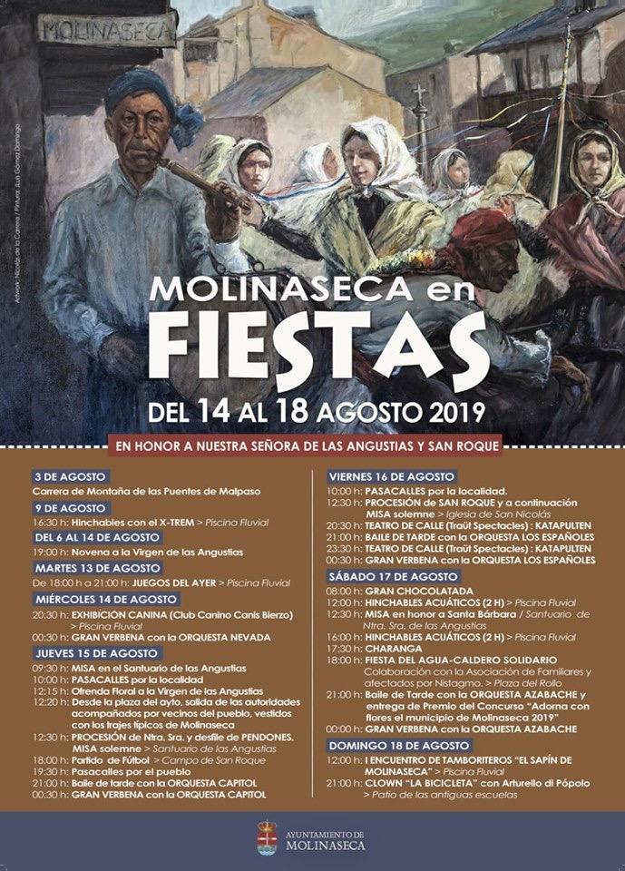 Fiestas de Las Angustias, San Roque en Molinaseca. 14 al 18 de agosto 2019 2