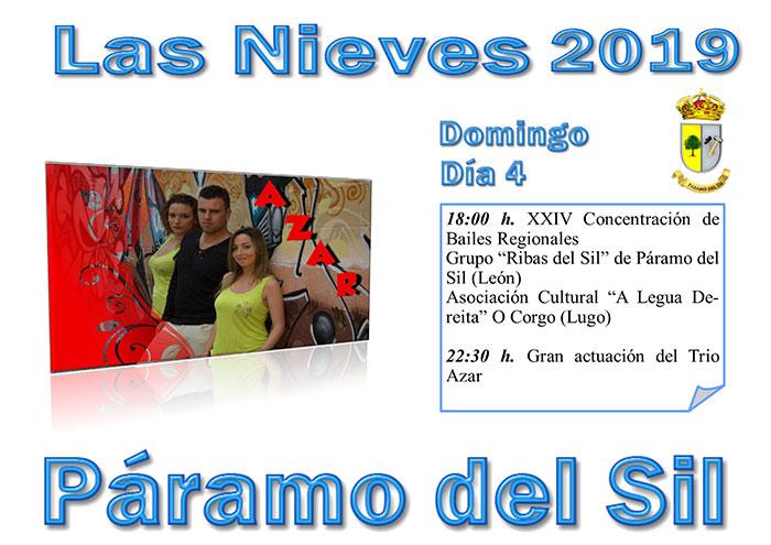 Fiestas de Las Nieves en Páramo del Sil. 2, 3, 4, 5 y 6 de agosto. Programación de actividades 4