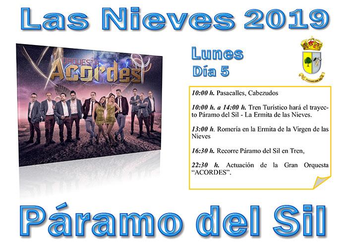 Fiestas de Las Nieves en Páramo del Sil. 2, 3, 4, 5 y 6 de agosto. Programación de actividades 5