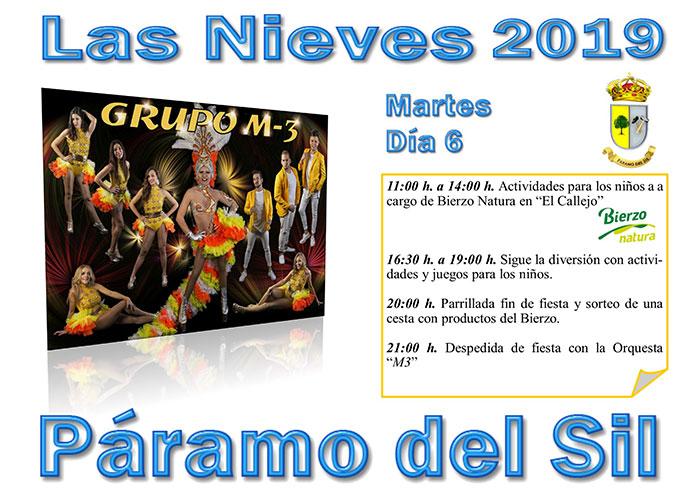 Fiestas de Las Nieves en Páramo del Sil. 2, 3, 4, 5 y 6 de agosto. Programación de actividades 6