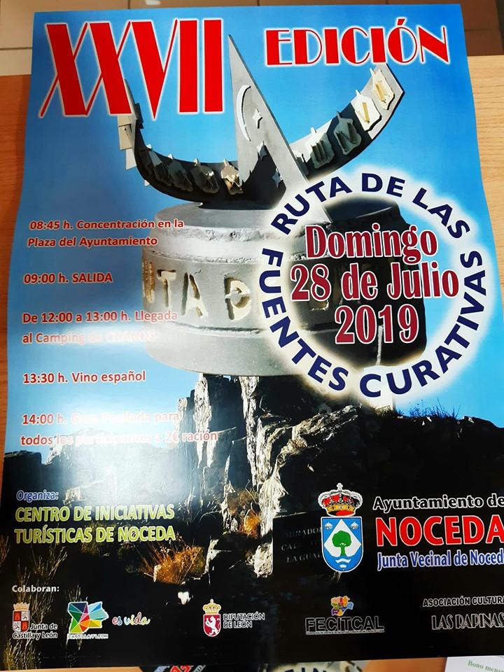 Noceda organiza la XXVII Ruta de las Fuentes Curativas el último domingo de julio 2