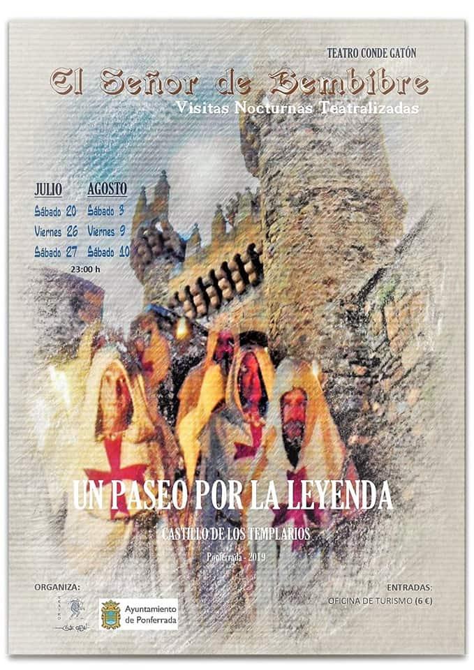 Vuelven las visitas teatralizadas nocturnas al Castillo de Ponferrada 2