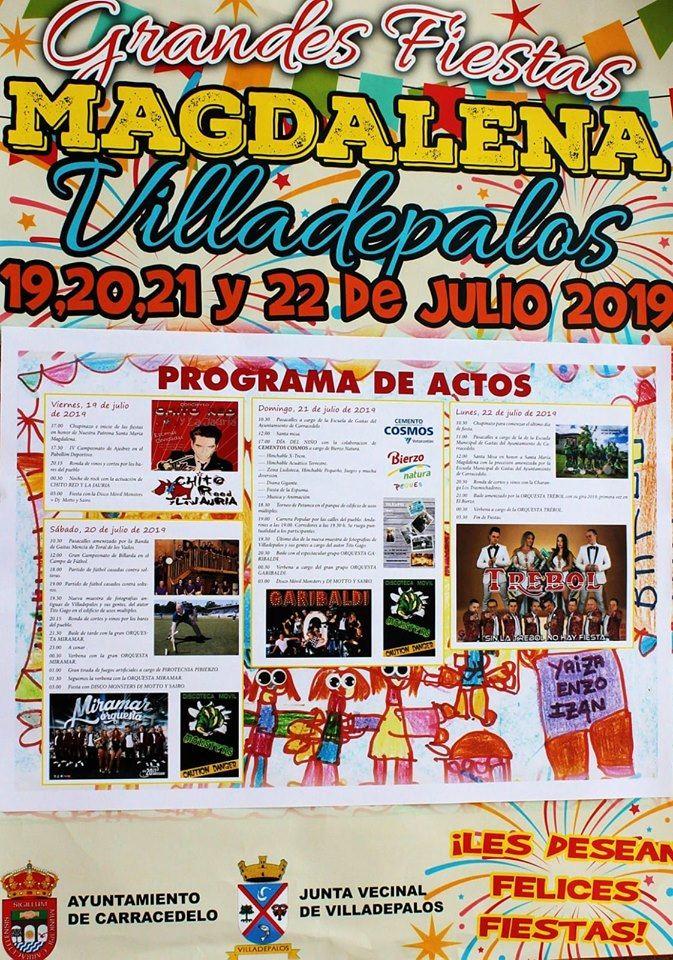 Fiestas en Villadepalos. 19 al 22 de julio 1