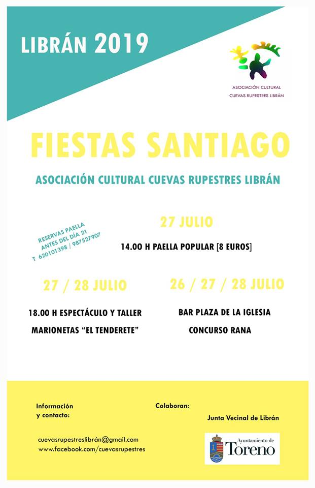 Fiestas de Santiago en Librán. 27 y 28 de julio 2
