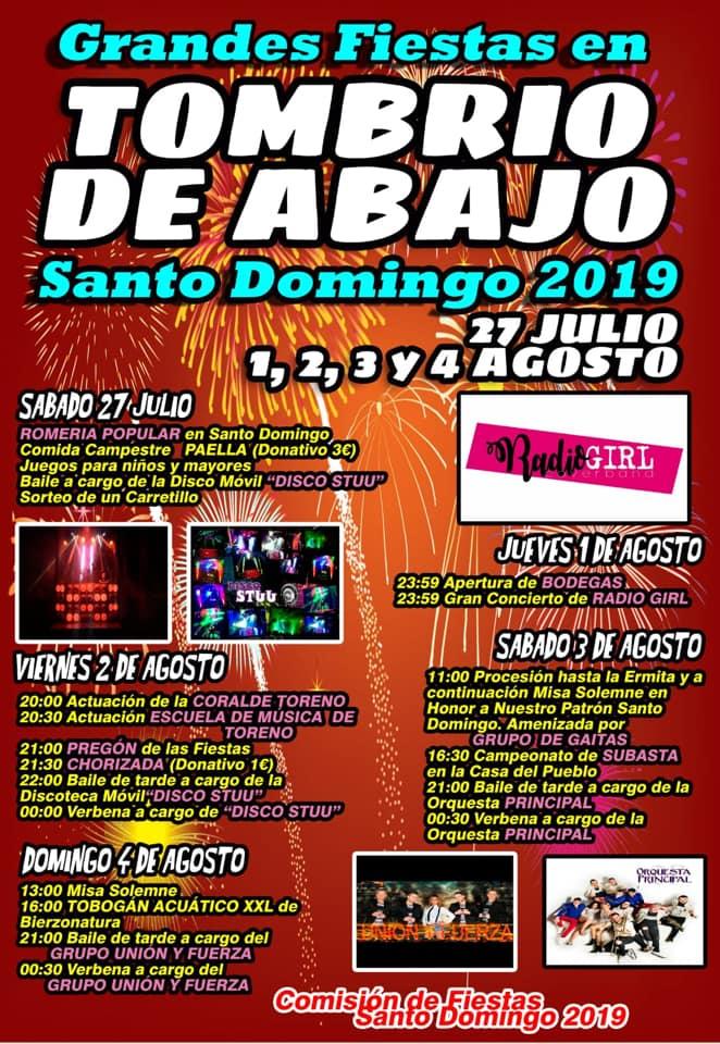 Fiestas en Tombrio de Abajo.1 al 4 de agosto 2019 2