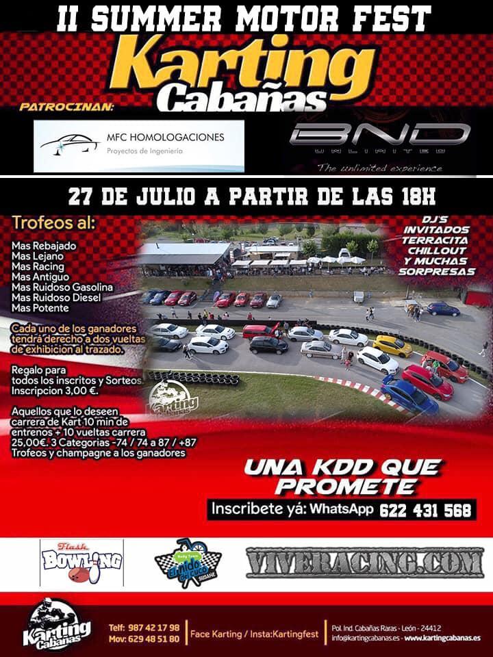 El Karting de Cabañas Raras organiza este sábado la 'II Summer Motor Fest' 2