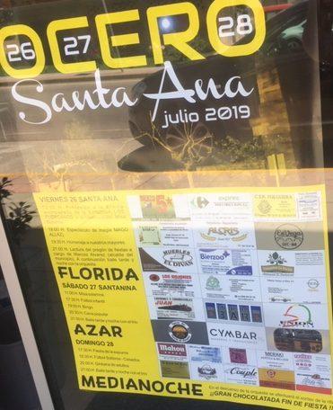 Fiestas en Ocero en honor a Santa Ana. 26, 27 y 28 de julio 2
