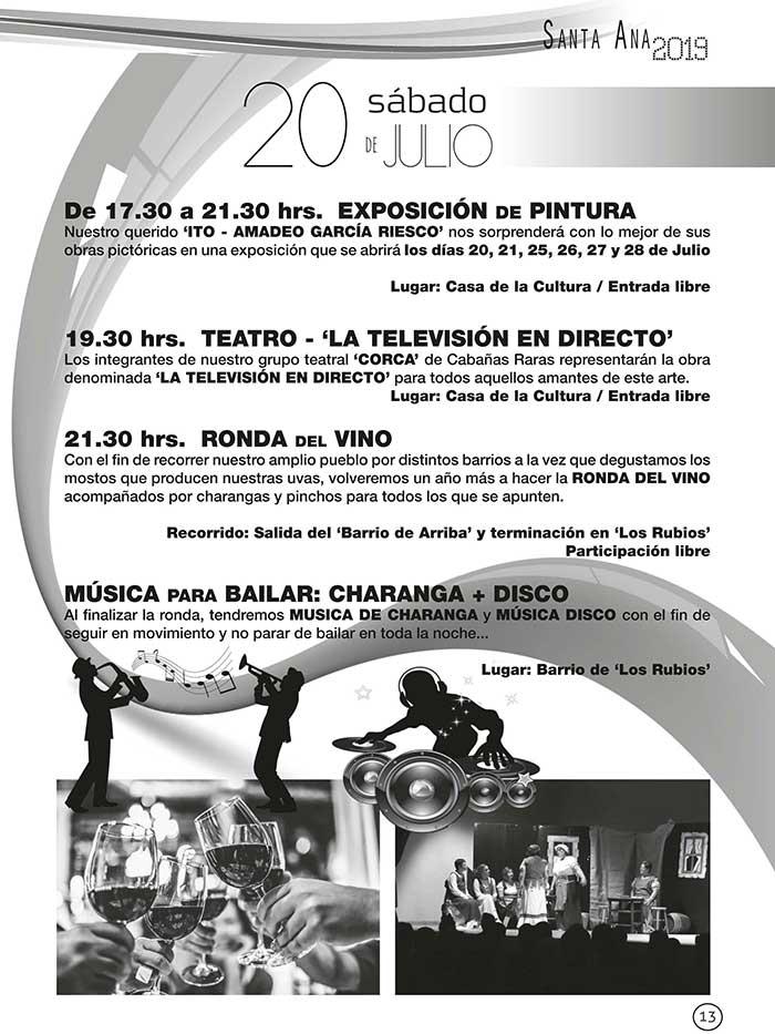 FIestas de Santa Ana en Cabañas Raras. 19 al 28 de julio 3