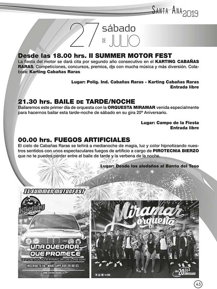 FIestas de Santa Ana en Cabañas Raras. 19 al 28 de julio 9