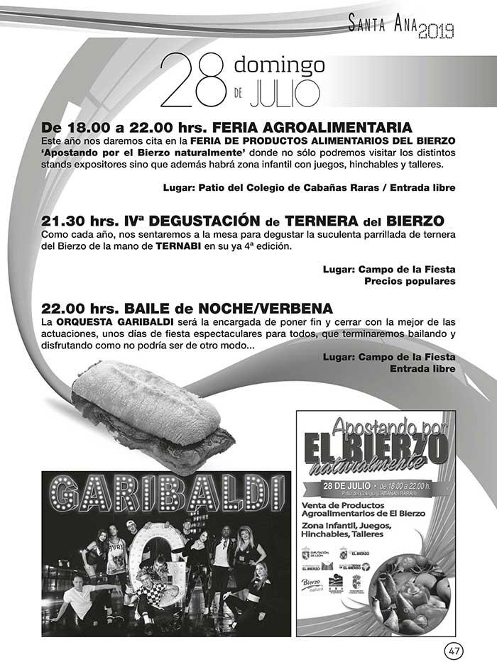 FIestas de Santa Ana en Cabañas Raras. 19 al 28 de julio 10