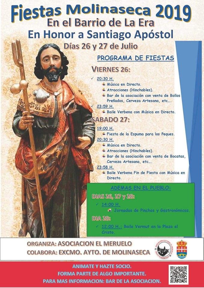 El barrio de La Era en Molinaseca celebra las fiestas en honor a Santiago Apostol. 26 y 27 de julio 2