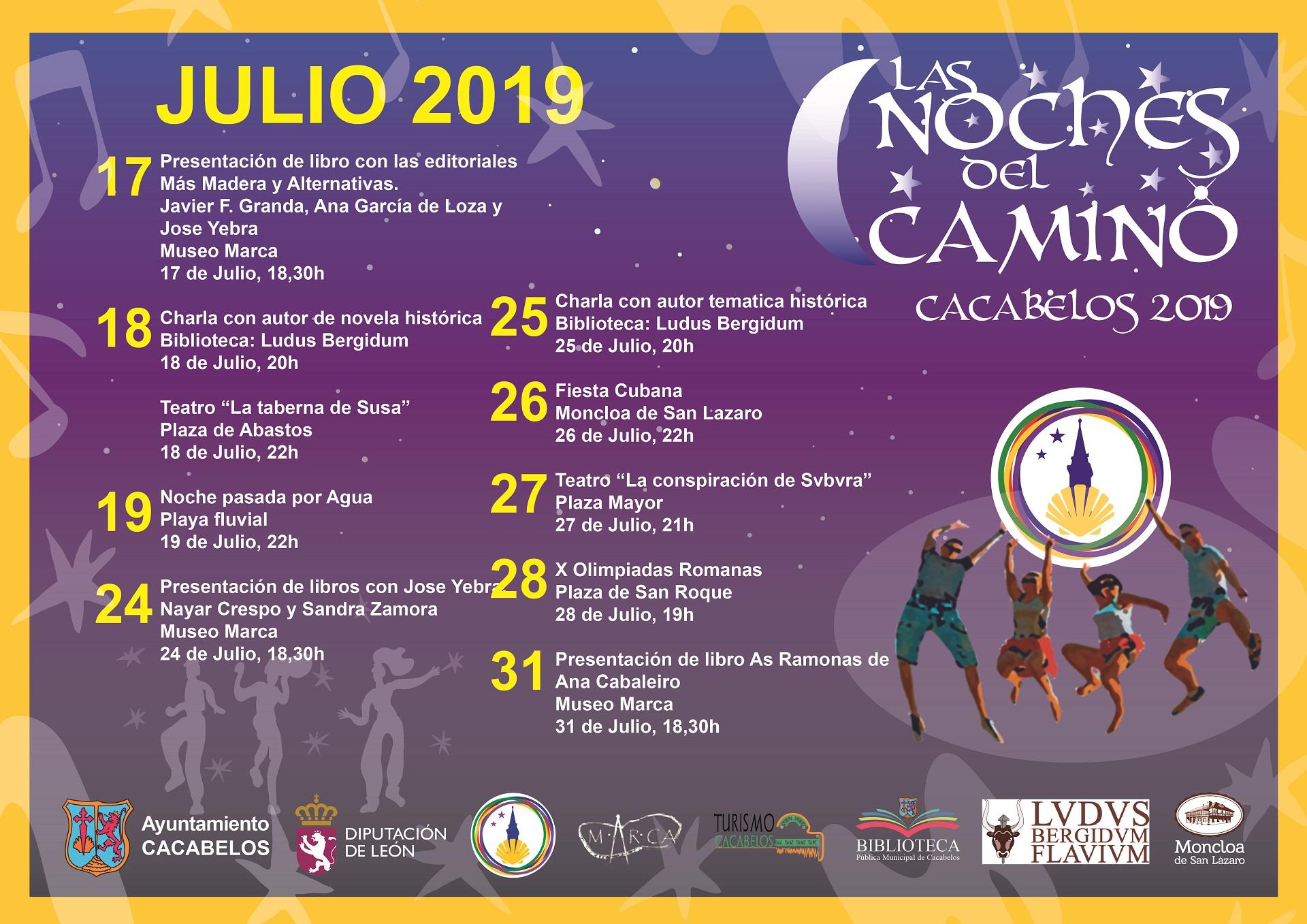 Vuelven Las Noches del Camino 2019 a Cacabelos 2