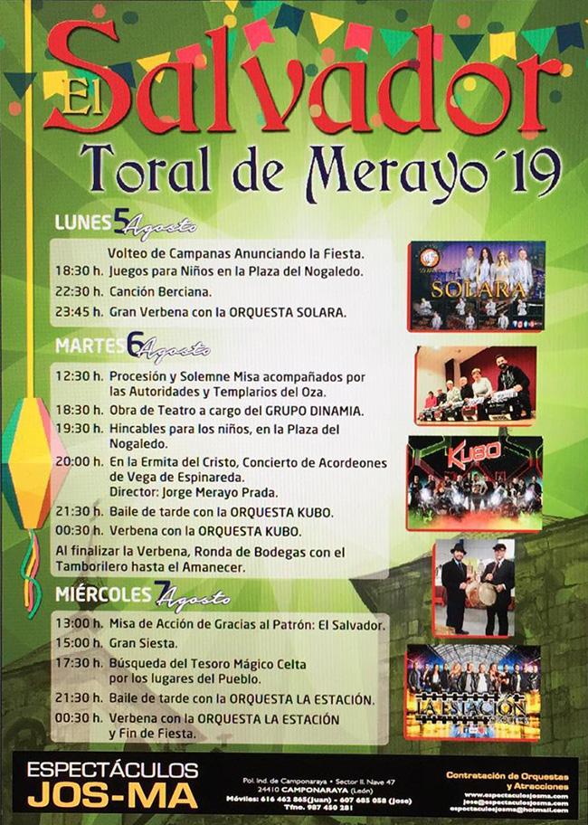 Fiestas de El Salvador en Toral de Merayo. 5, 6 y 7 de agosto 2019 2
