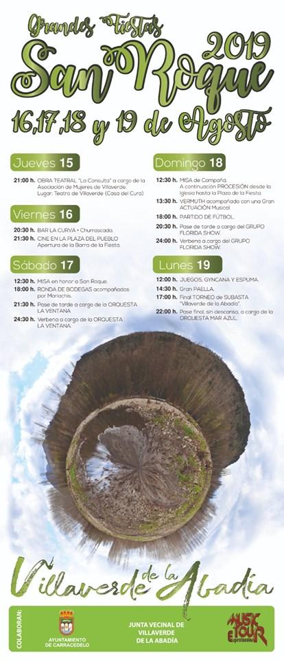 Fiestas de San Roque en Villaverde de la Abadía. 16 al 19 de agosto 2019 2