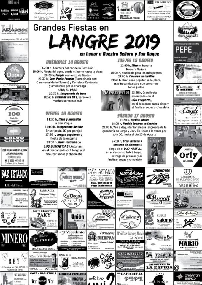 Grandes Fiestas en Langre. 14 al 17 de agosto 2019 2