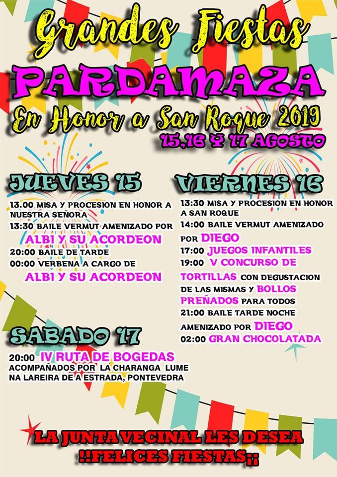 Fiestas de San Roque en Pardamaza. 15 al 17 de agosto 2019 2