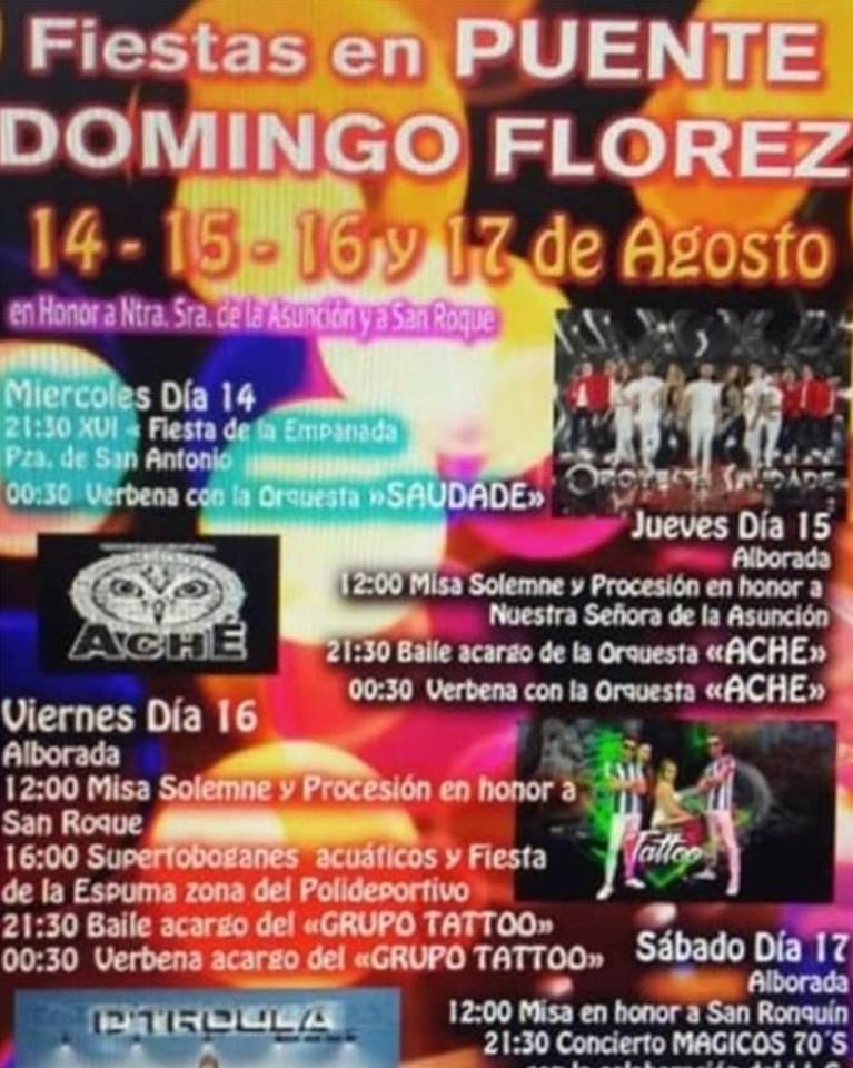 Fiestas de la Asunción y San Roque en Puente de Domingo Flórez. 14 al 17 de agosto 2019 2