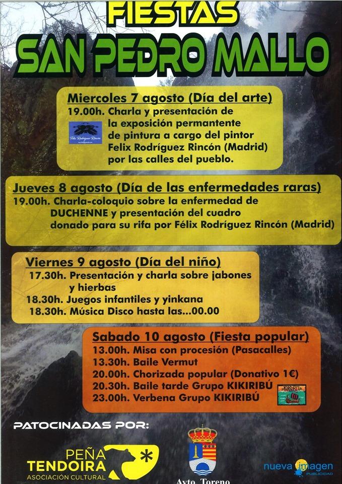 Fiesta del turista en San Pedro Mallo. 7 al 10 de agosto 2019 2