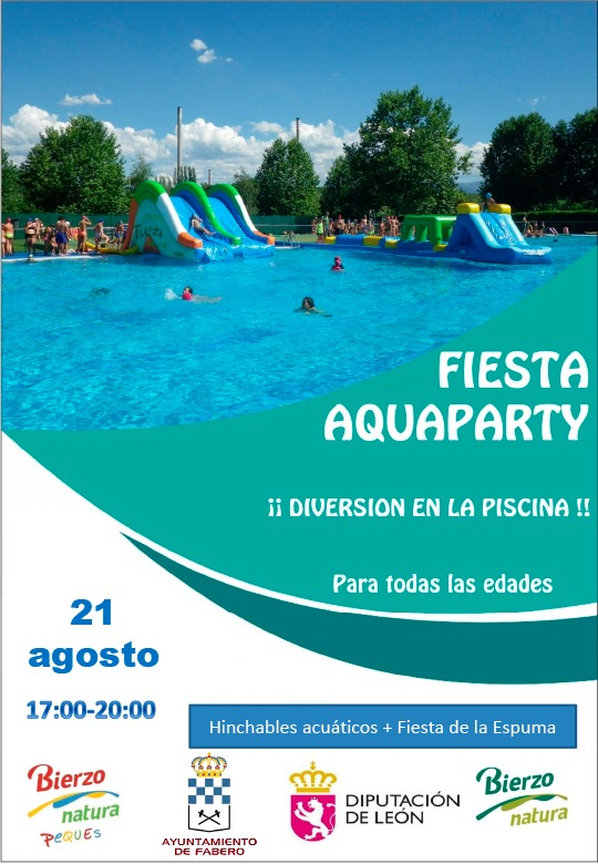 Aquaparty en la piscina de Fabero