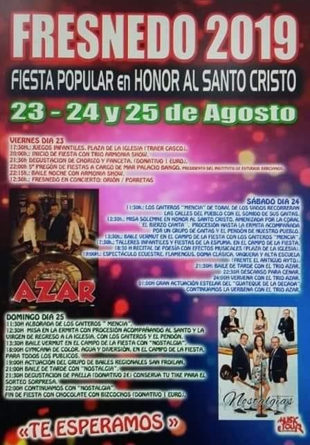 Fiestas de Santo Tirso en Fresnedo. 23 al 25 de agosto 2019 2