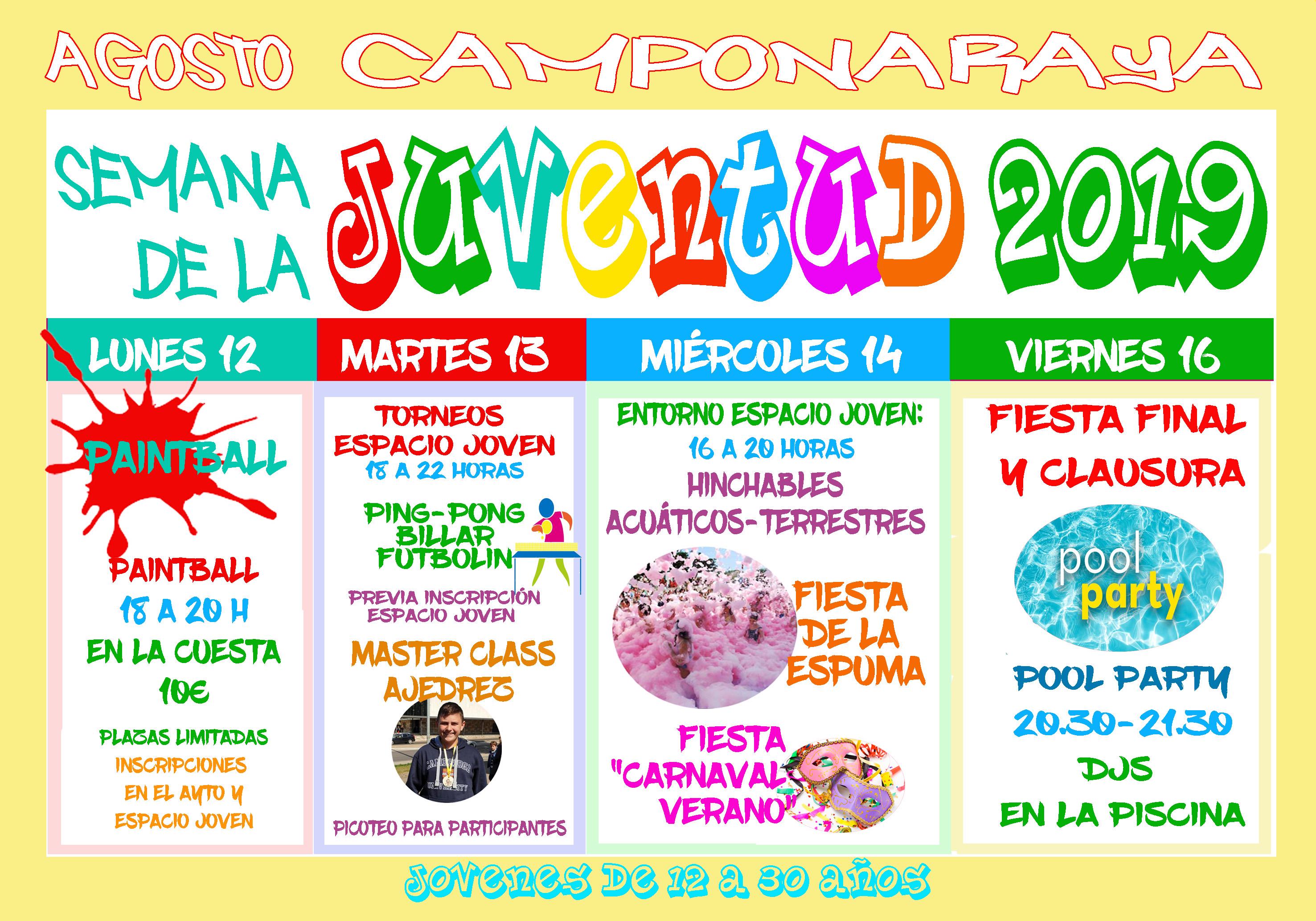Camponaraya organiza la Semana de la Juventud 2