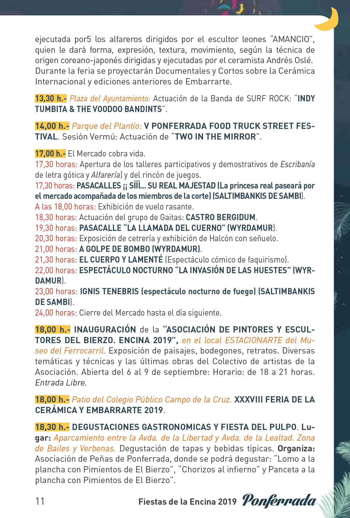 Fiestas de la Encina 2019. Programa y actividades 11
