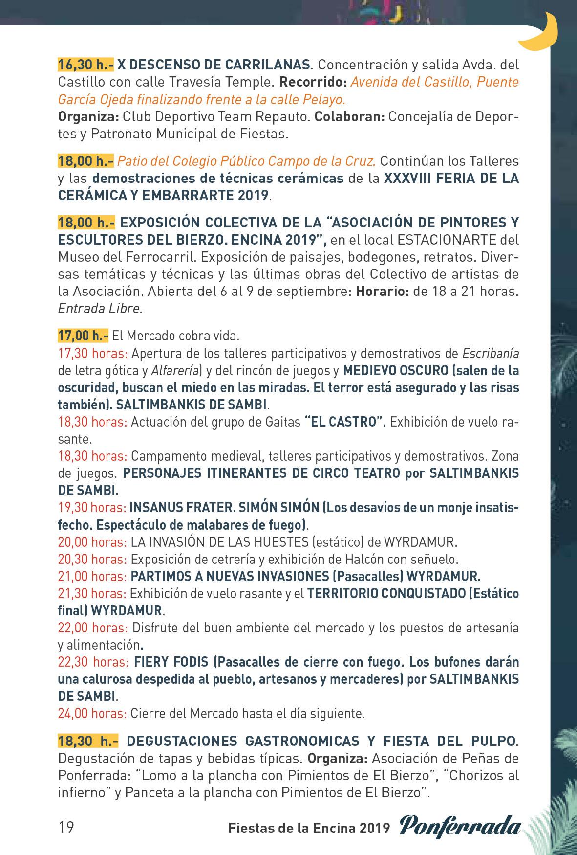 Fiestas de la Encina 2019. Programa y actividades 19
