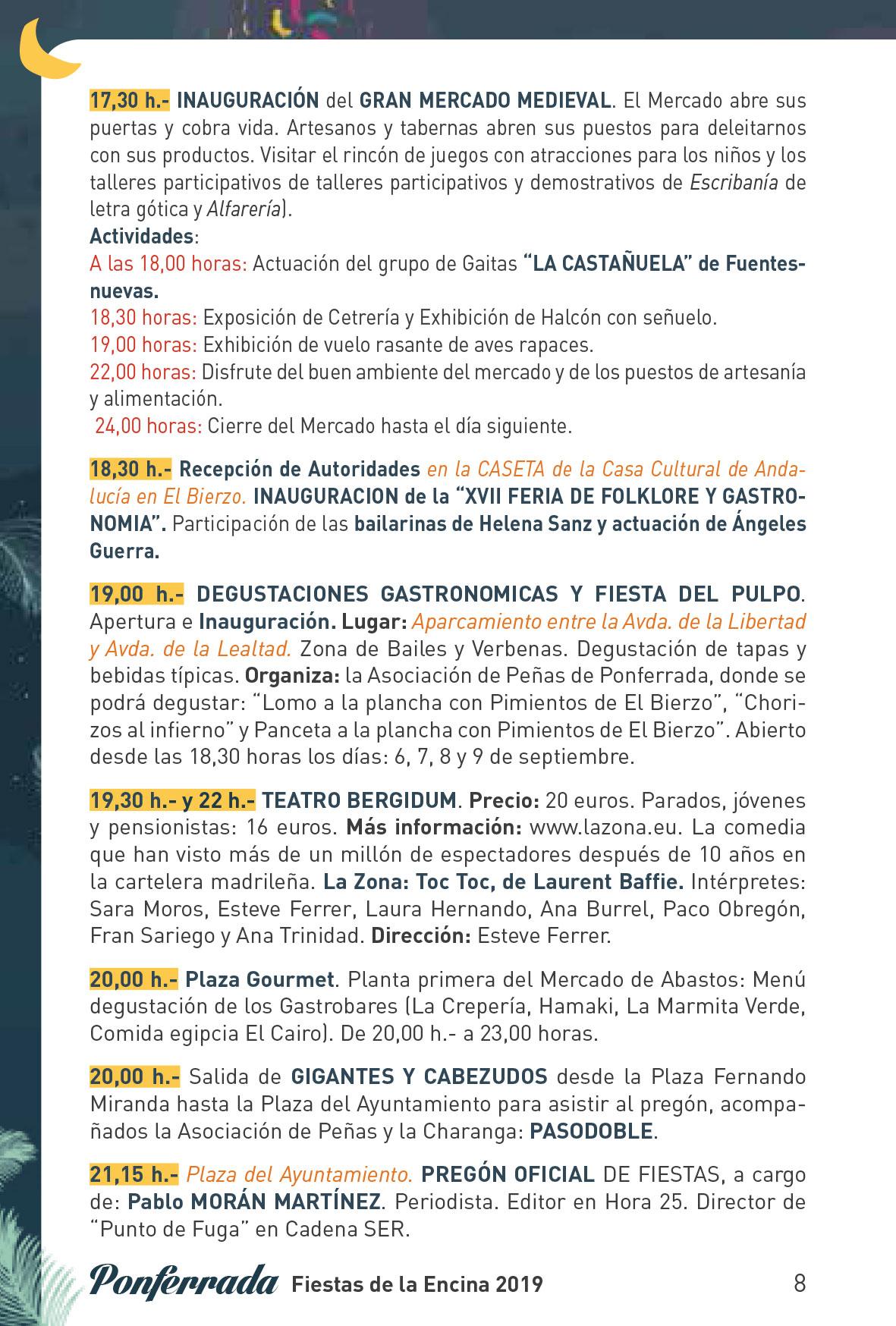 Fiestas de la Encina 2019. Programa y actividades 8