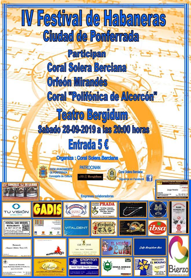 El Teatro Bergidum sirve de escenario para el Festival de Habaneras 2