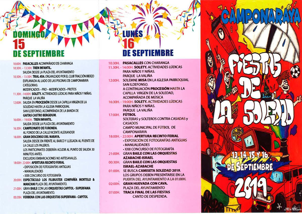 Fiestas de La Soledad 2019 en Camponaraya | Programa de actividades 3