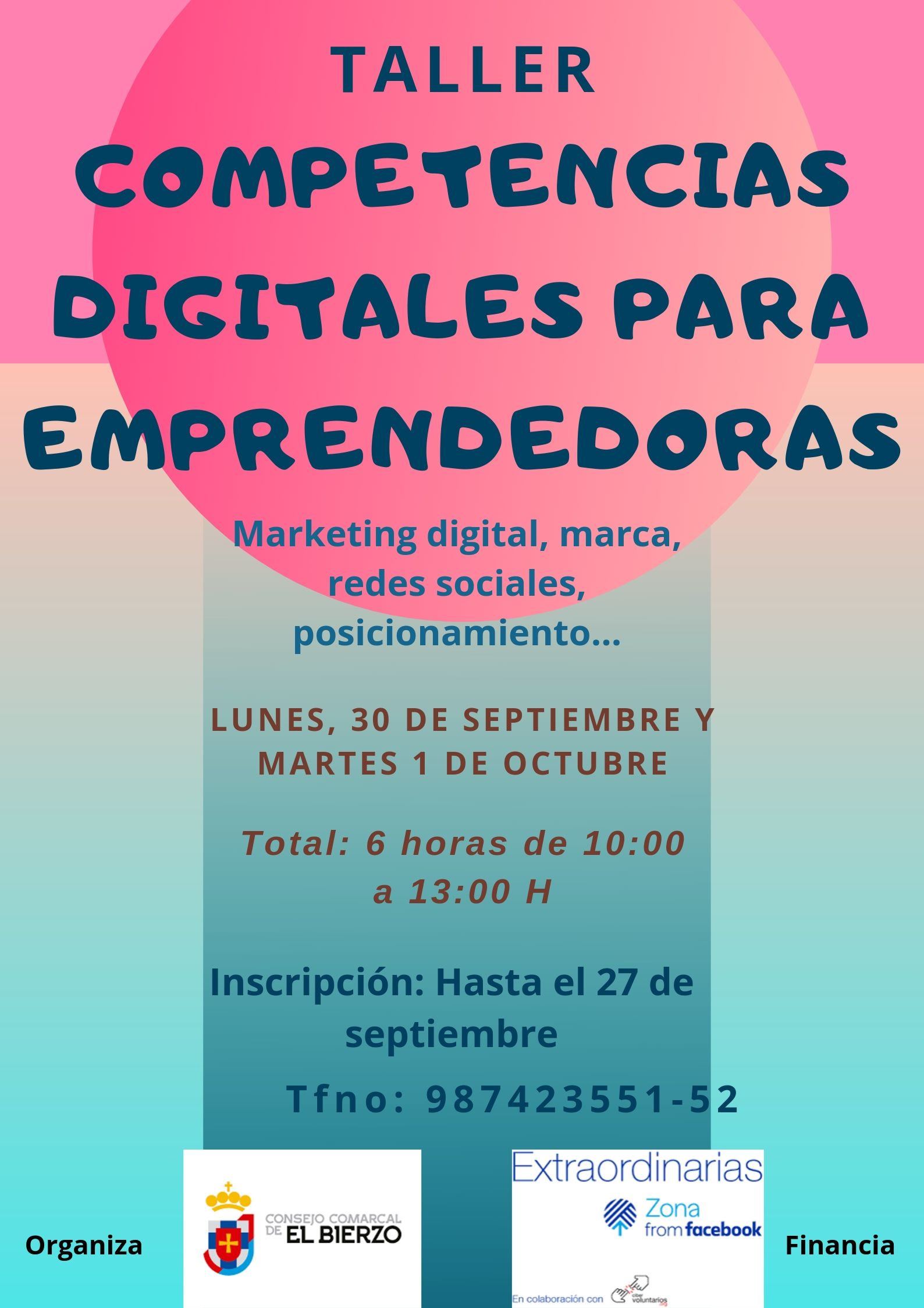 El Consejo Comarcal imparte un taller de competencias digitales para emprendedoras 2