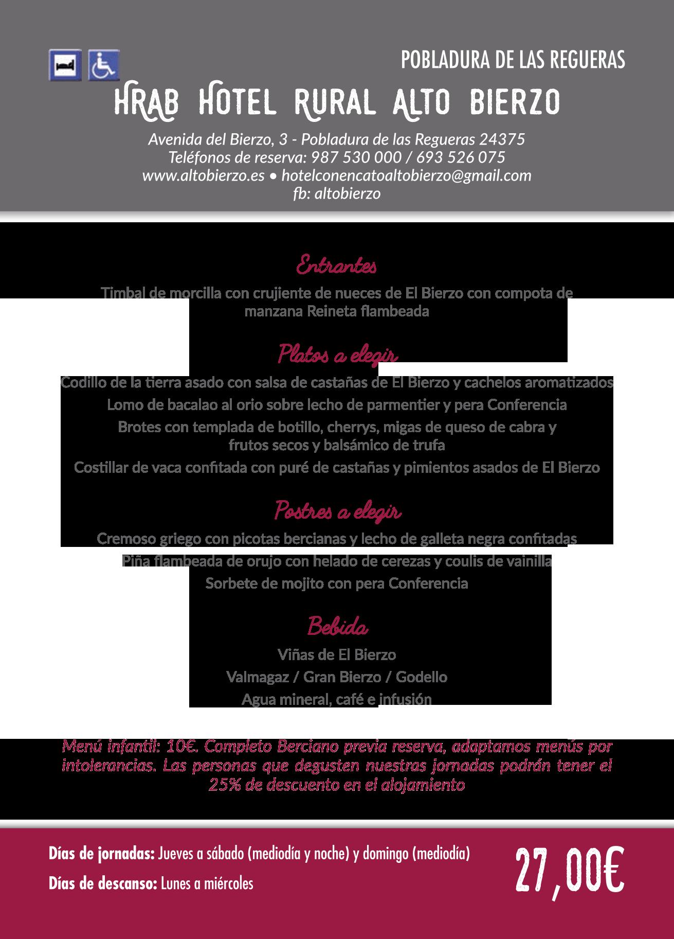 Las Jornadas Gastronómicas del Bierzo llegan a su 35 edición. Consulta los menús de esta edición 7