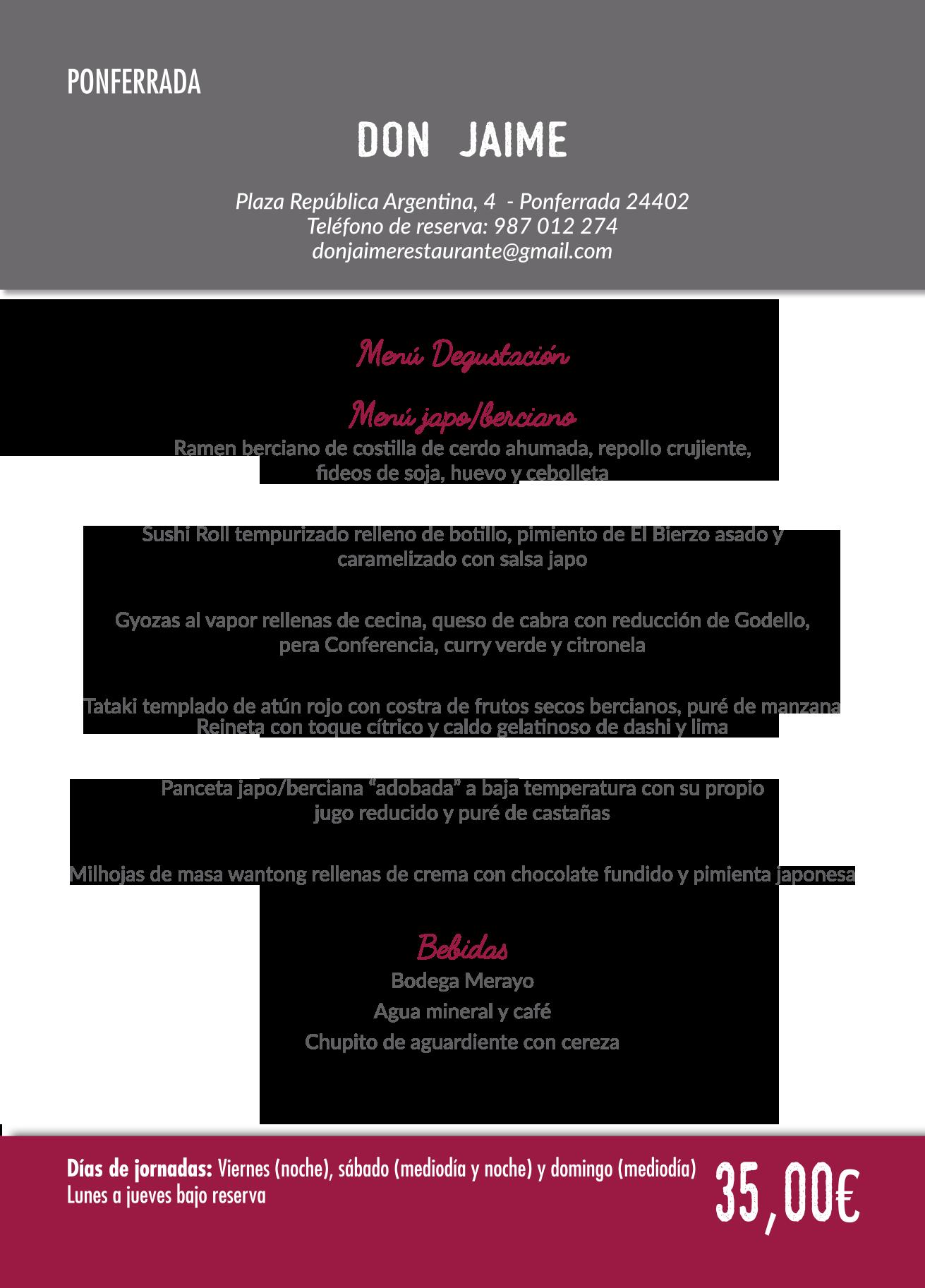 Las Jornadas Gastronómicas del Bierzo llegan a su 35 edición. Consulta los menús de esta edición 10
