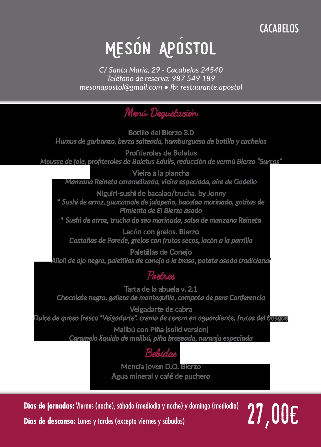 Las Jornadas Gastronómicas del Bierzo llegan a su 35 edición. Consulta los menús de esta edición 13