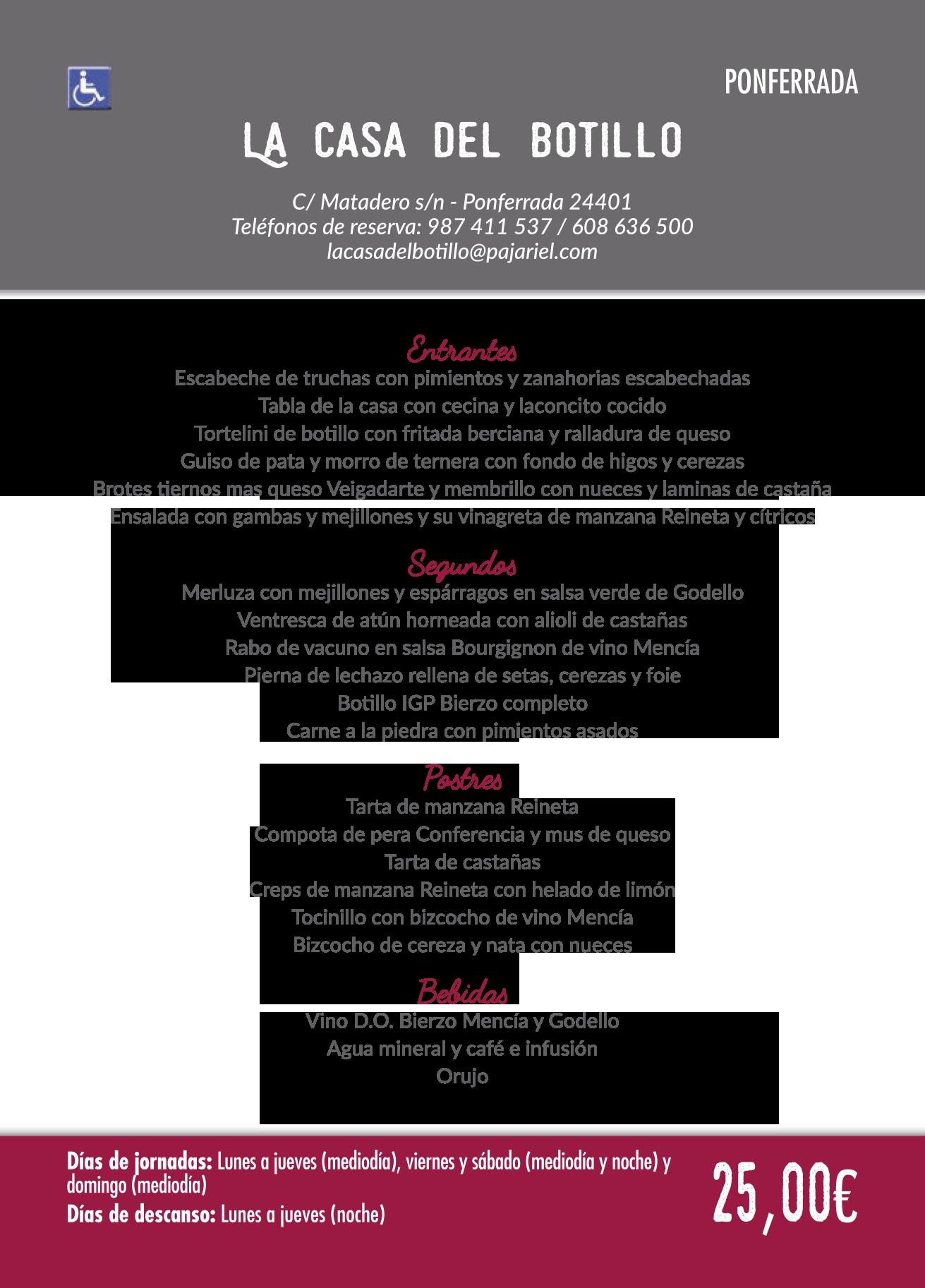Las Jornadas Gastronómicas del Bierzo llegan a su 35 edición. Consulta los menús de esta edición 18