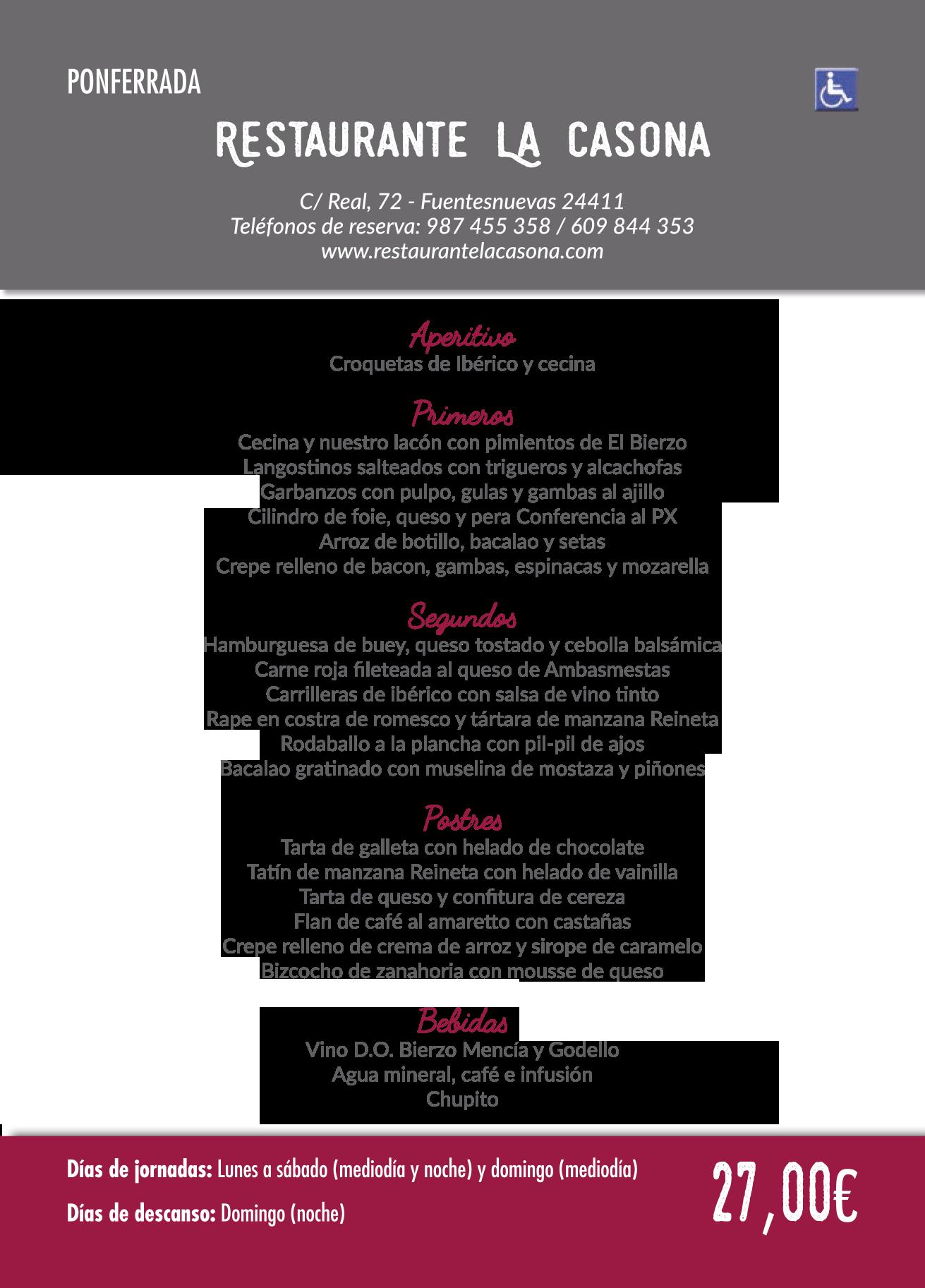 Las Jornadas Gastronómicas del Bierzo llegan a su 35 edición. Consulta los menús de esta edición 19