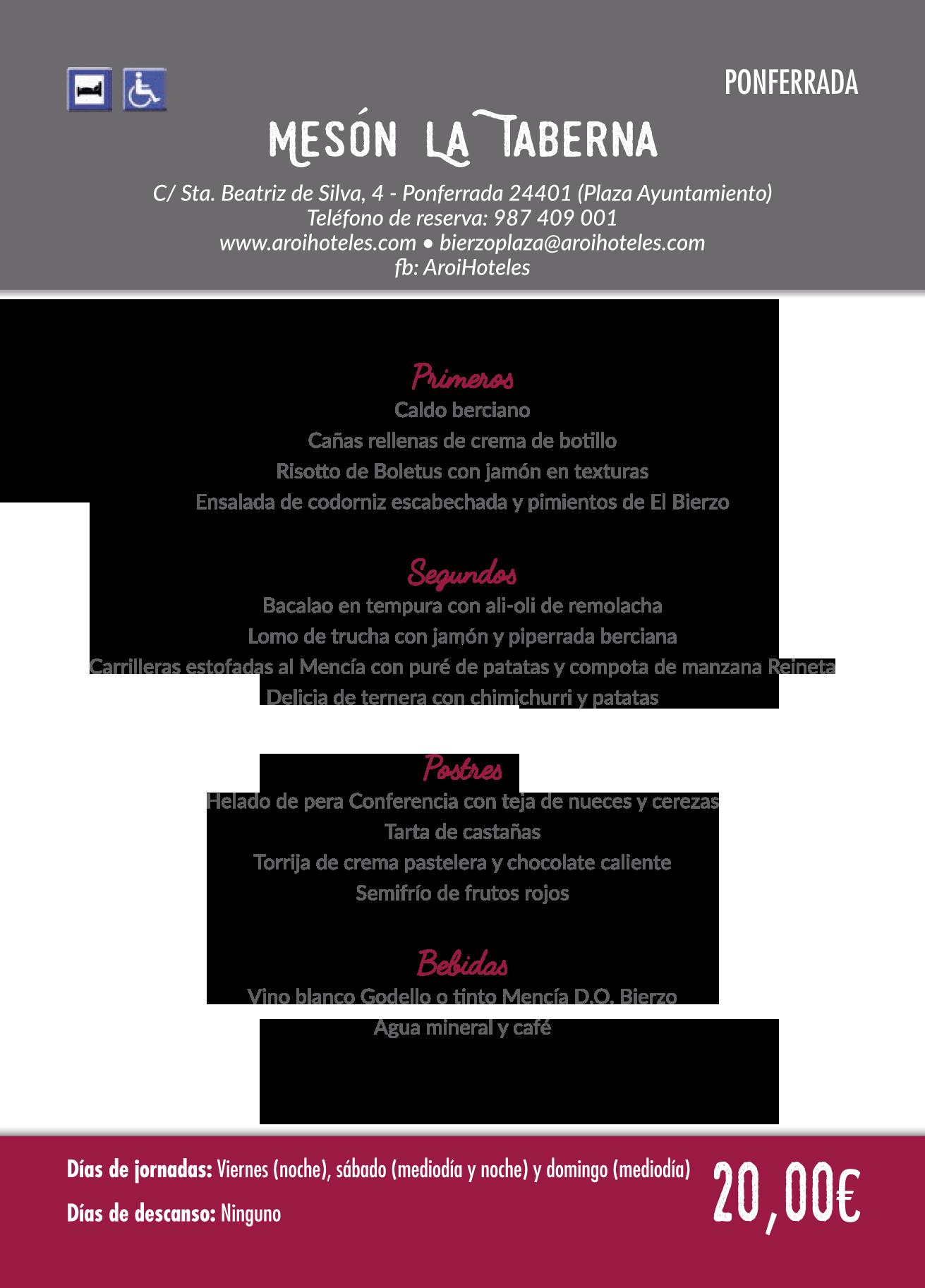 Las Jornadas Gastronómicas del Bierzo llegan a su 35 edición. Consulta los menús de esta edición 22