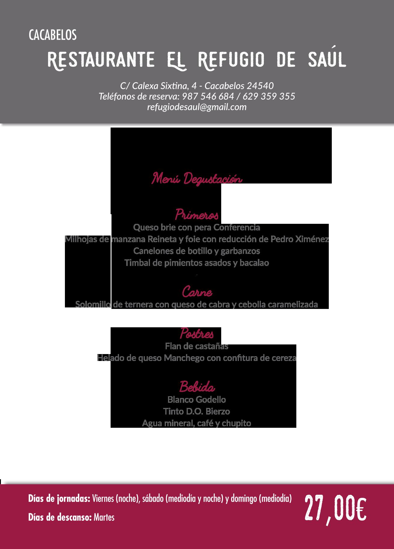 Las Jornadas Gastronómicas del Bierzo llegan a su 35 edición. Consulta los menús de esta edición 24