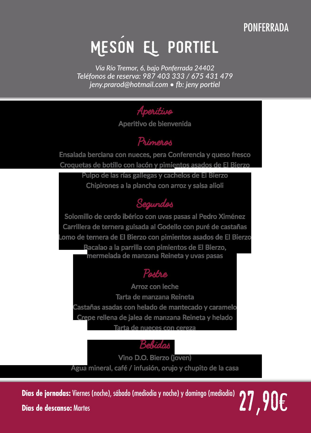 Las Jornadas Gastronómicas del Bierzo llegan a su 35 edición. Consulta los menús de esta edición 25