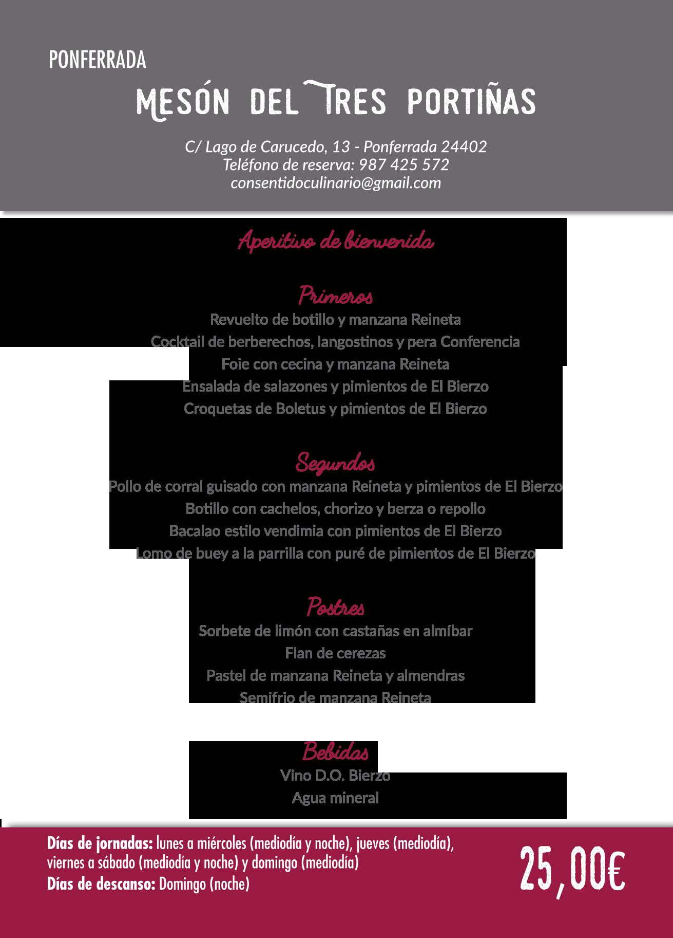 Las Jornadas Gastronómicas del Bierzo llegan a su 35 edición. Consulta los menús de esta edición 26