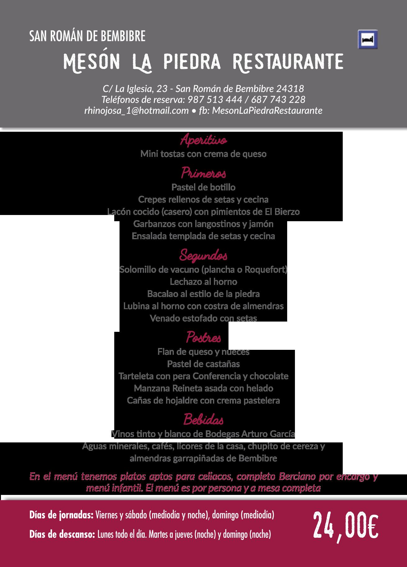 Las Jornadas Gastronómicas del Bierzo llegan a su 35 edición. Consulta los menús de esta edición 28