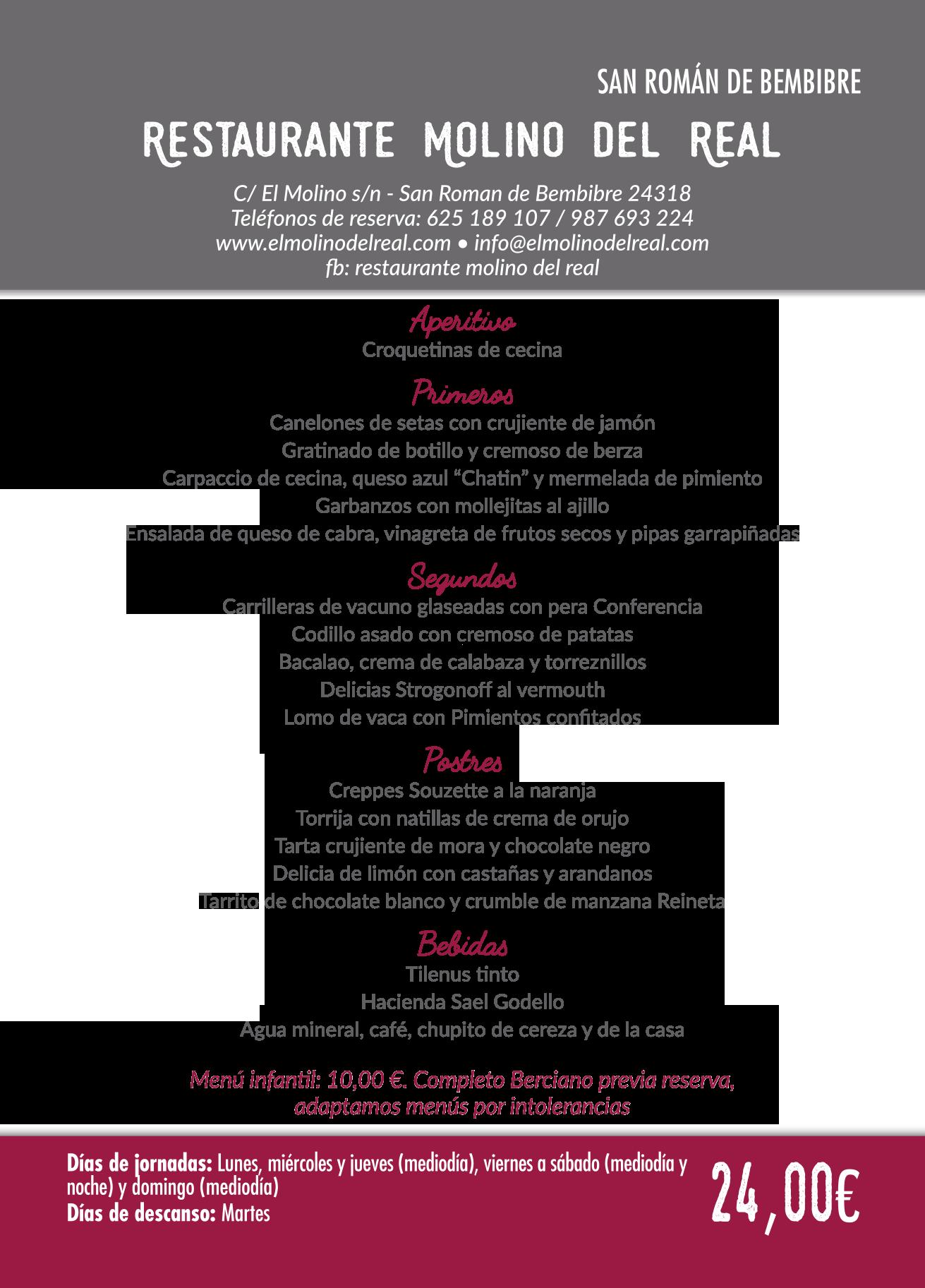 Las Jornadas Gastronómicas del Bierzo llegan a su 35 edición. Consulta los menús de esta edición 29