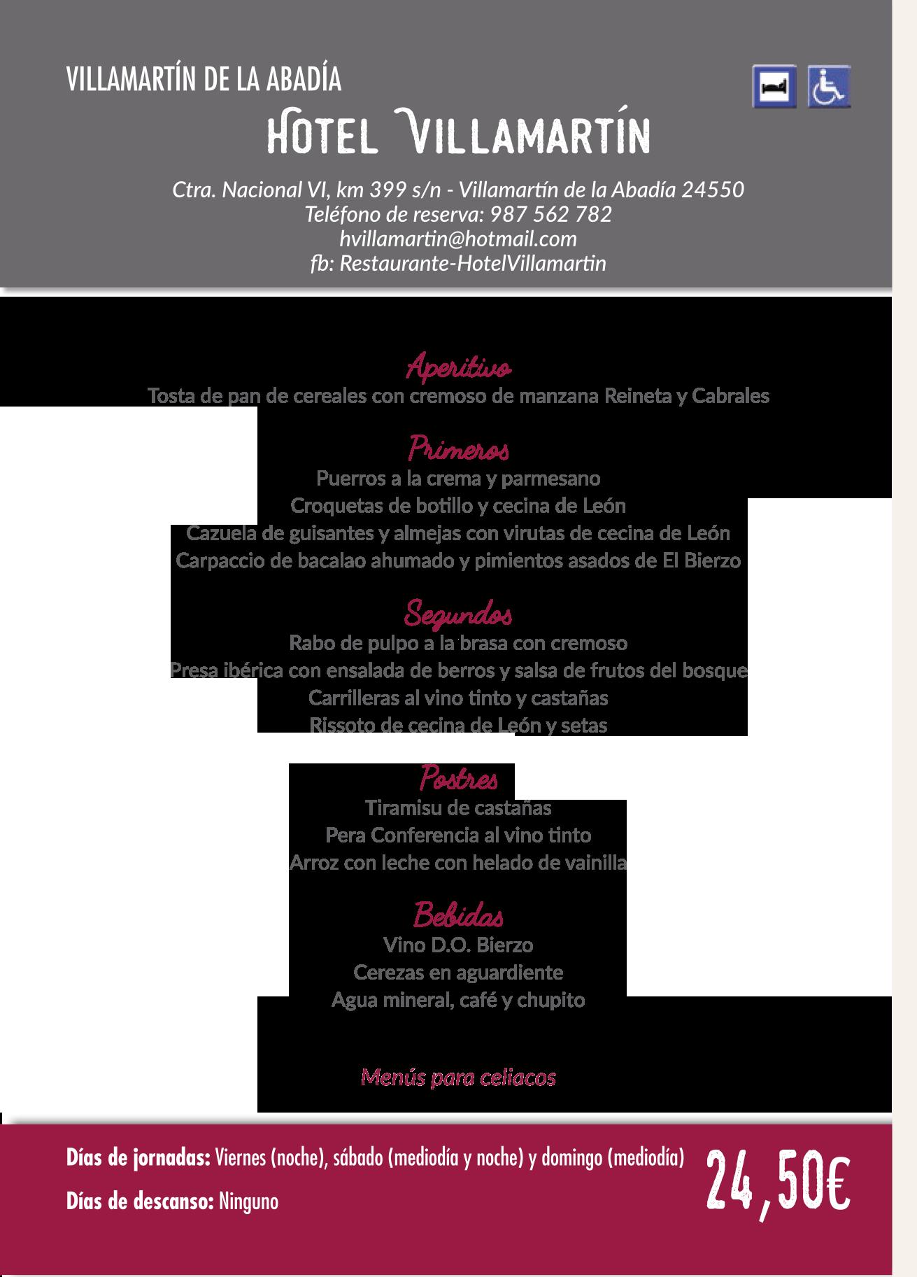 Las Jornadas Gastronómicas del Bierzo llegan a su 35 edición. Consulta los menús de esta edición 32