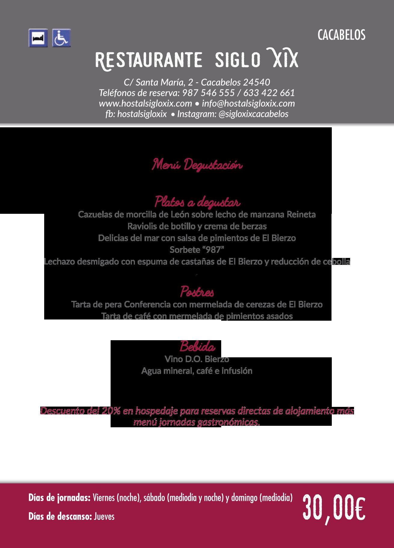 Las Jornadas Gastronómicas del Bierzo llegan a su 35 edición. Consulta los menús de esta edición 33