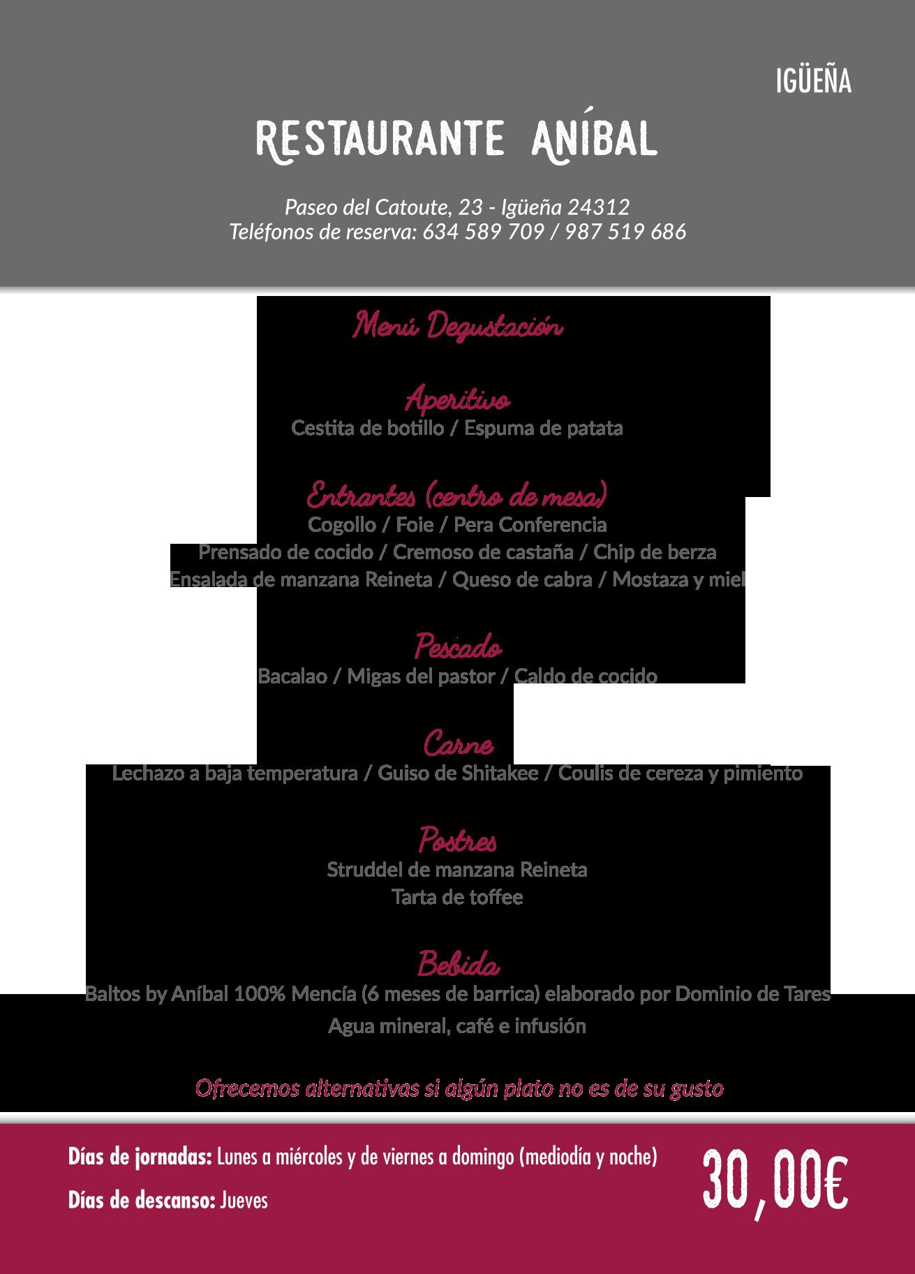 Las Jornadas Gastronómicas del Bierzo llegan a su 35 edición. Consulta los menús de esta edición 35