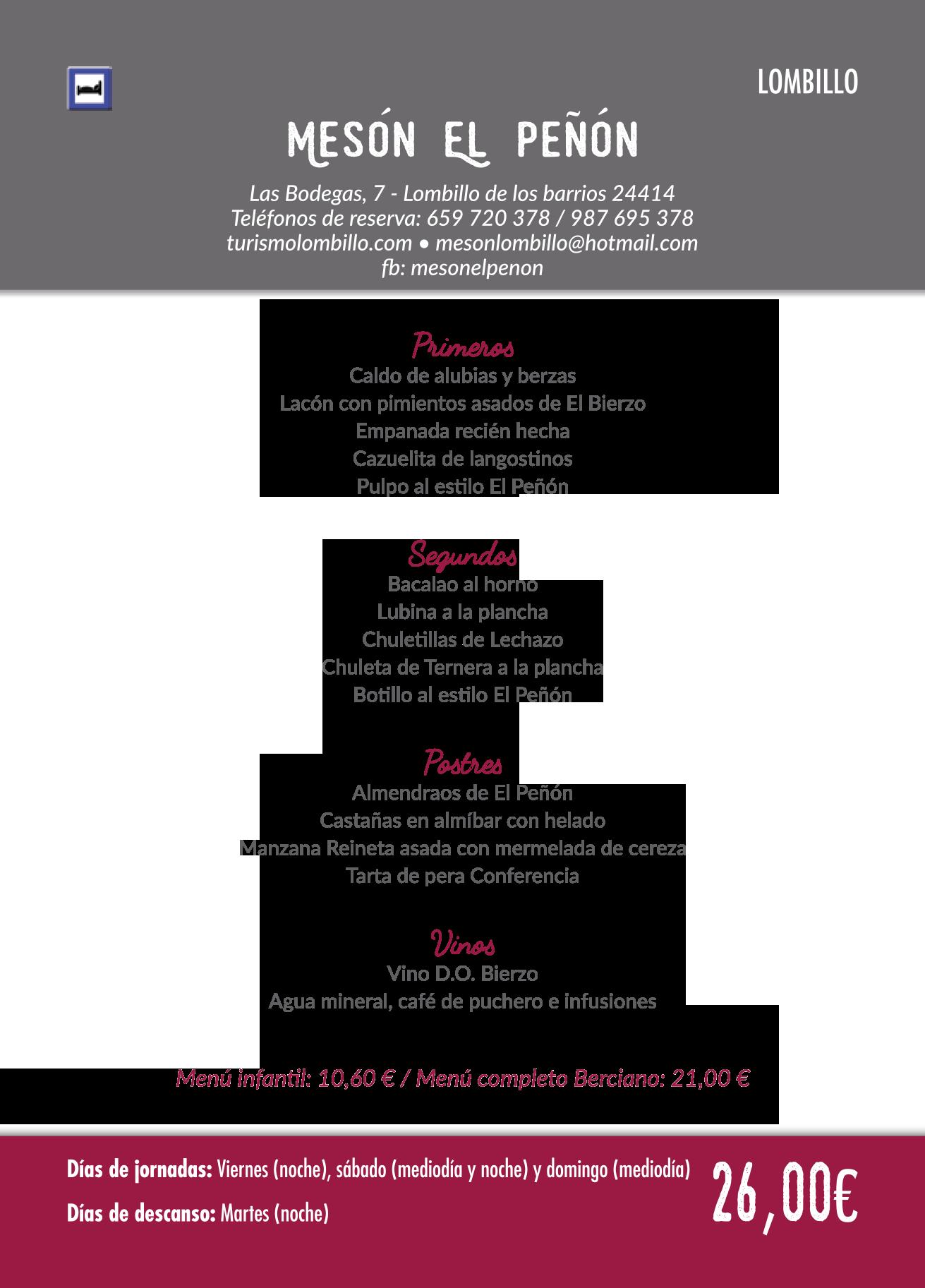Las Jornadas Gastronómicas del Bierzo llegan a su 35 edición. Consulta los menús de esta edición 37