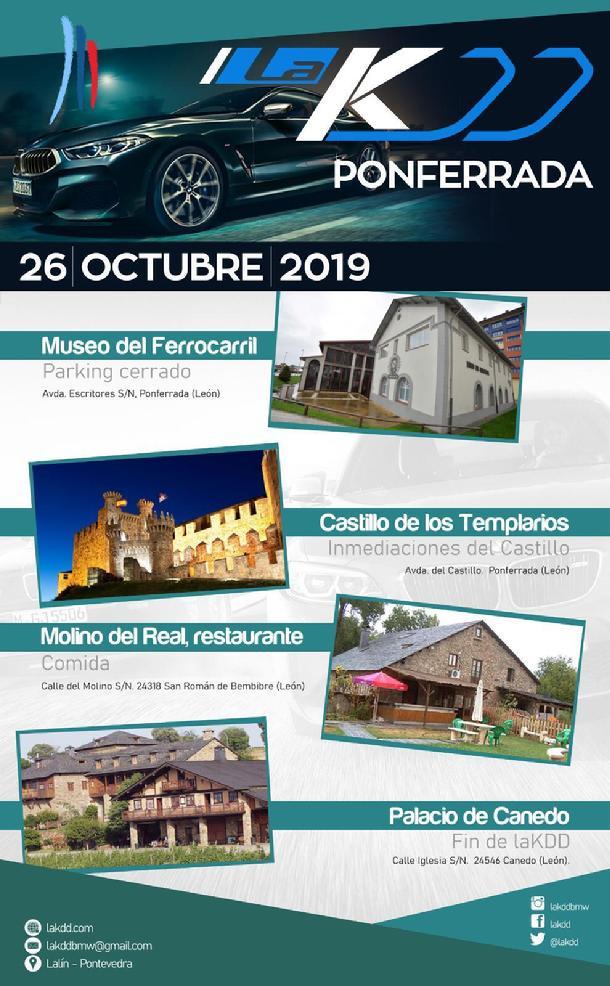 La concentración 'La KDD' llegará el sábado desde Galicia y llenará de vehículos BMW Ponferrada y El Bierzo 2