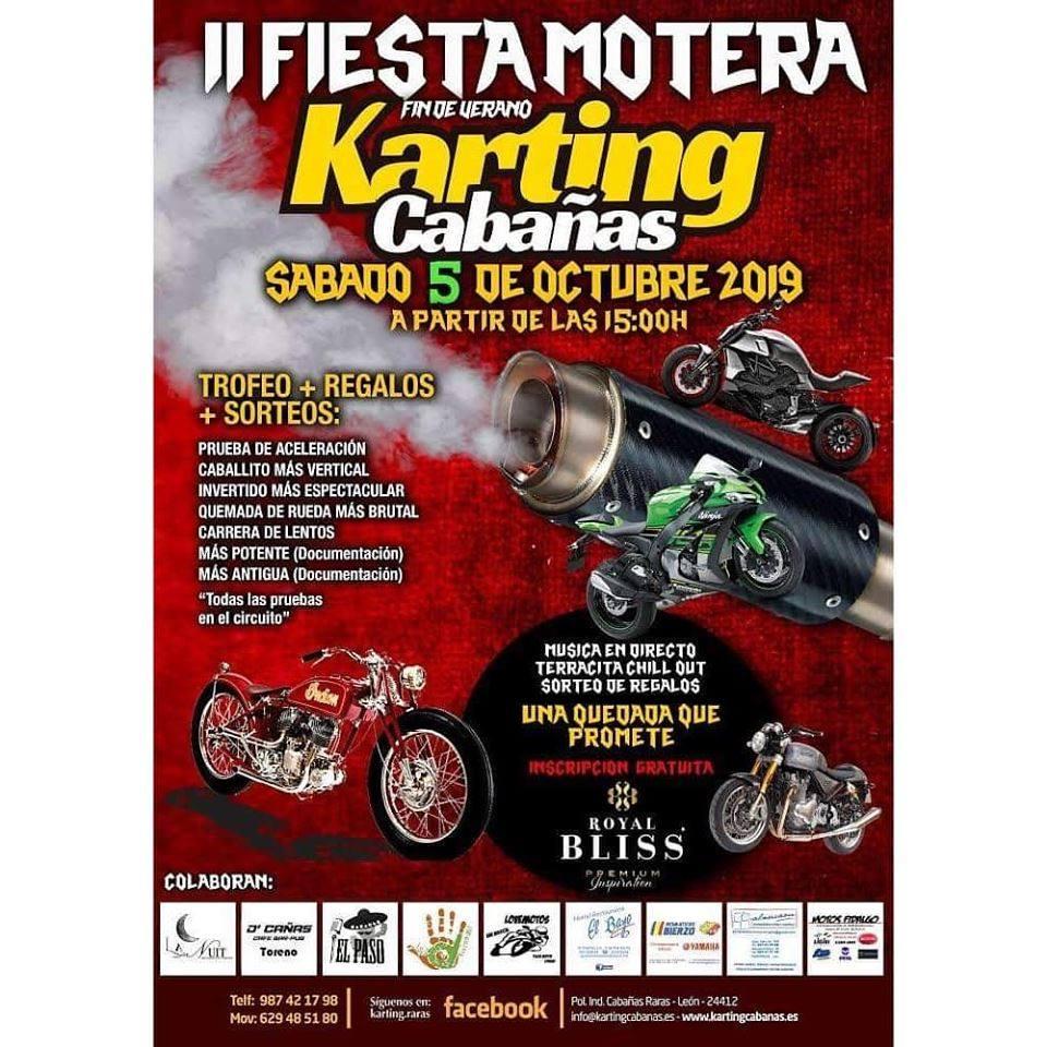 El sábado rugirán motores en la II Fiesta Motera del Karting de Cabañas Raras 2