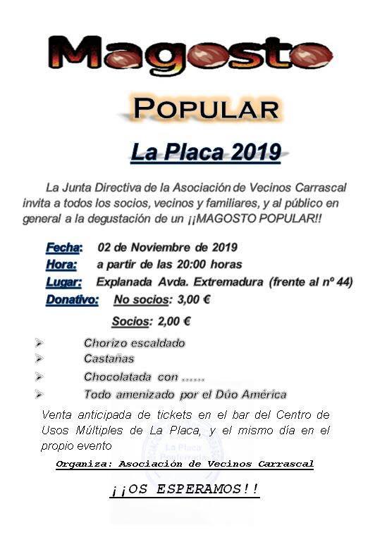 Magosto Popular en La Placa. 2 de noviembre 2019 2