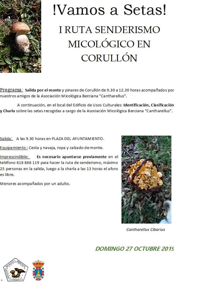 La Asociación Cantharellus organiza la I Ruta de senderismo micológico en Corullón 2